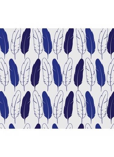 Artikel Lacivert Yaprak Desenli Masa Örtüsü 140X160Cm Renkli